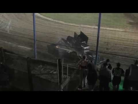 The feature race from Waikaraka Park Speedway 19.1.2019 . The drivers must have had something in the water as it was all on for the Feature - dirt track racing video image