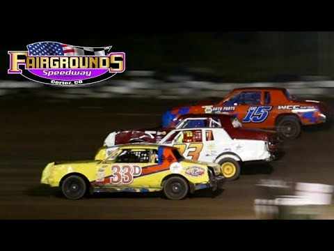 Fairgrounds Speedway IMCA Hobby Stock Main Event 8/13/21 - dirt track racing video image