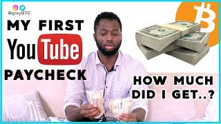 My First YouTube Paycheck | How Much Did I Get?