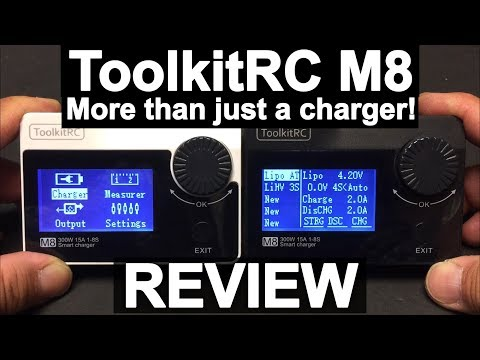 ToolkitRC M8 300W 15A Charger, Cell Checker, Servo Tester  REVIEW - UC9l2p3EeqAQxO0e-NaZPCpA