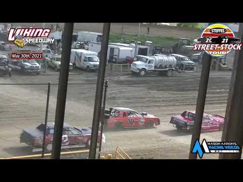 Viking Speedway Steffes WISSOTA Street Stock Tour B-Mains (5/29/21) - dirt track racing video image