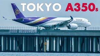AIRBUS A350s at TOKYO HANEDA