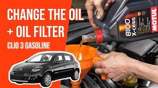 Cambio olio motore RENAULT CLIO 3