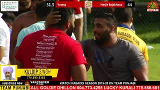 SECOND SEMI FIRST HALF LIVE HARJIT BAJAKHANA KABADDI CUP 2019