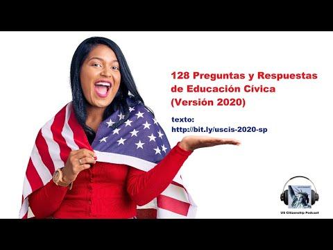 128 Preguntas y Respuestas de Educación Cívica (Versión 2020)