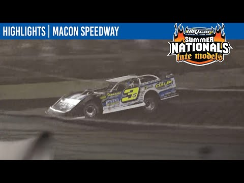 DIRTcar Summer Nationals Late Models Macon Speedway July 8, 2021   HIGHLIGHTS - dirt track racing video image