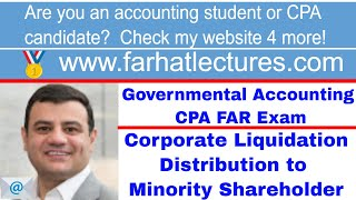 Corporate Liquidation Distribution to Minority Shareholder | Corporate Income Tax Course