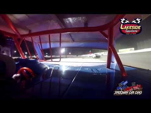 #105 Clint Hedge - USRA Stock Car - 5-14-2021 Lakeside Speedway - In Car Camera - dirt track racing video image