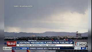 McCarran delays caused by lightning