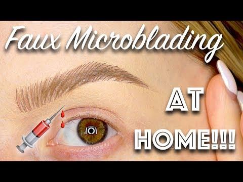 FAUX MICROBLADED BROWS AT HOME!!  ✨ Allison Wilburn MUA - UC0jHDt6pfXLaFaZB1E9Tf2g