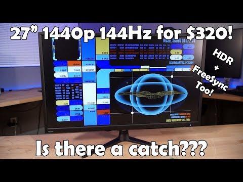 Pixio PX276h 144Hz 1440p eSports Monitor Review - VidVui