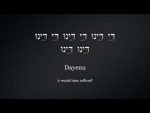 Dayenu - For Passover