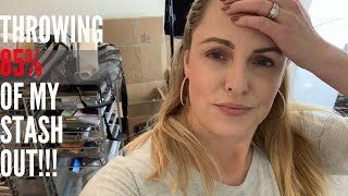 BEAUTY ROOM CLEAN OUT!! || Throwing out 85% of My Stash