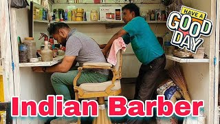 Indian street head massage with neck cracking (Travel series Orissa) ASMR massage #indianbarber