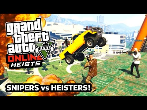 GTA 5 SNIPERS vs HEISTERS! EPIC NEW Snipers vs Heisters Army APC Machine Guns! (GTA 5 Funny Moments) - UC2wKfjlioOCLP4xQMOWNcgg