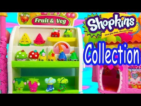 Shopkins COLLECTION TOUR Season 1 All Fruit & Veg Vegetable Easy Squeezy Part 1 Video Cookieswirlc - UCelMeixAOTs2OQAAi9wU8-g