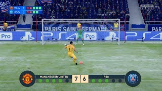 MANCHESTER UNITED vs PSG | UEFA Champions League - UCL | Penalty Shootout | FIFA19