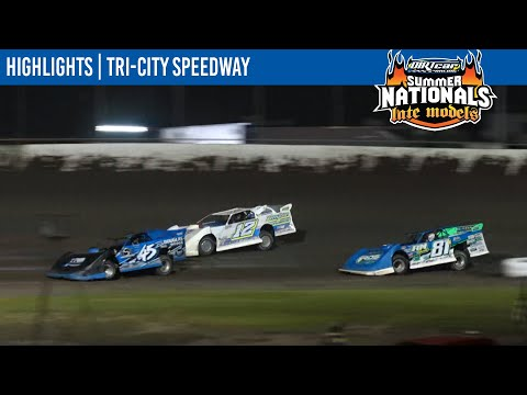 DIRTcar Summer Nationals Late Models Tri-City Speedway July 23, 2021 | HIGHLIGHTS - dirt track racing video image