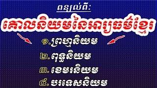 គោលនិយមនៃអារ្យធម៌ខ្មែរ - Base Preferably or Standards of Khmer civilization