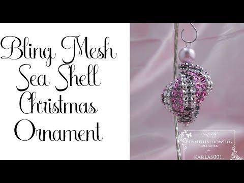 Bling Mesh Sea Shell Ornament