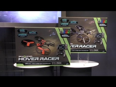 Sky Viper Hover Racer, Drone Racing from SkyRocket Toys. First Look Toy Fair 2016 - UCG20rXlEUWfFI1p2B5n3akg