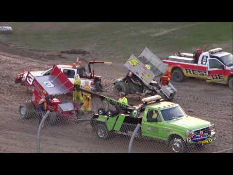 Sprintcar Races Aug 3/12 Races. Ohsweken Speedway , The ARCHIVE. - dirt track racing video image