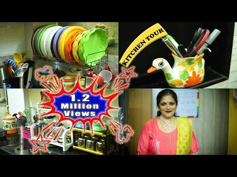 Kitchen Organization Ideas Indian || Kitchen Organization  || My Kitchen ||Vijayas Recipes