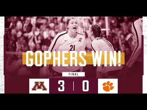 Highlights: Gopher Volleyball Sweeps Clemson 3-0