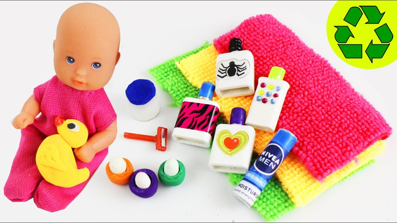 How to Make Miniature Doll Bathroom Products