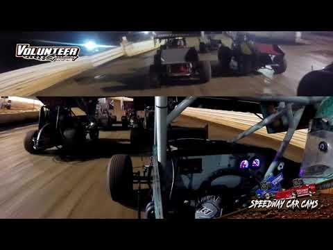 #10K Dewayne White - USCS Sprint - 9-24-21 Volunteer Speedway - In-Car Camera - dirt track racing video image