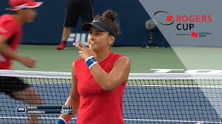 Highlights: Bianca Andreescu vs. Timea Babos | Rogers Cup Toronto 2017