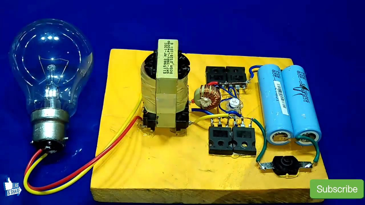 Inverter 3v To 220v 500watt How To Make Inverter Without Circuit Board New Idea How To Do