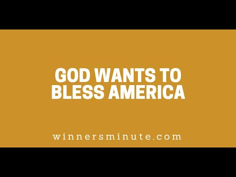 God Wants to Bless America // The Winner's Minute With Mac Hammond
