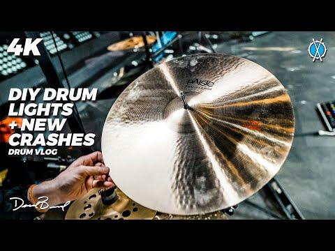 DIY Drum Lights and New Cymbals! // Drum Vlog