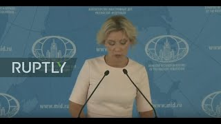 LIVE: MFA spokesperson Maria Zakharova holds her weekly briefing