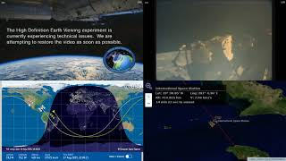 Evening American Coastlines - International Space Station NASA Live View With Map - 025 - 2019-08-17