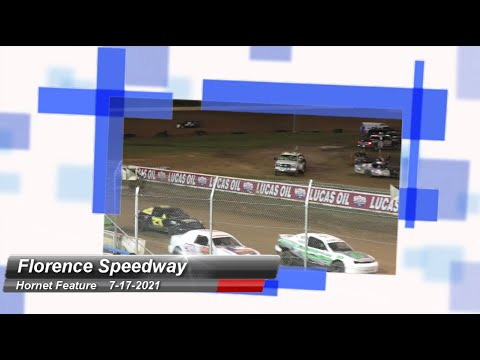 Florence Speedway - Hornet Feature - 7/17/2021 - dirt track racing video image
