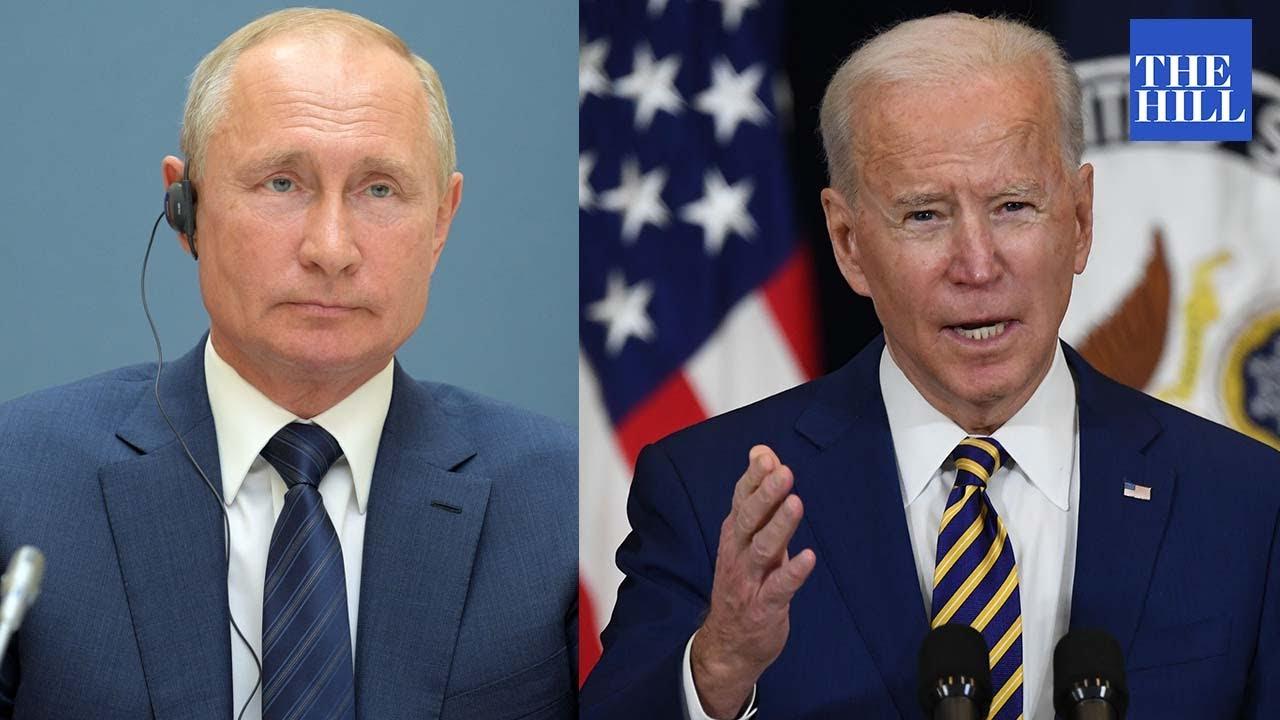 Vladimir Putin holds press conference after meeting with Joe Biden