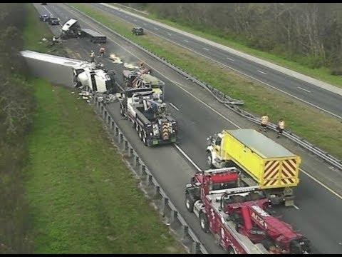 Massive Crash As Semi-Trucks Shuts Down Florida Interstate 75