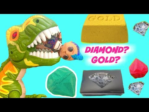 LOL Surprise Doll Punk Boi Looks for Gold Digs Its at Jurrasic Dinosaur Park - UC5qTA7teA2RqHF-yeEYYANw