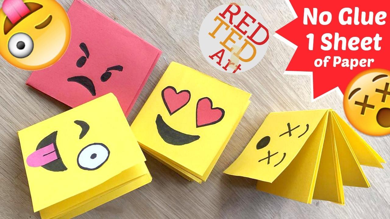 Easy Emoji Notebook One Sheet Of Paper No Glue Notebook