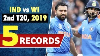 Ind vs WI 2nd T20 Records : Rohit Sharma | Virat Kohli | Shikhar Dhawan | Most Runs in T20 | Sixes