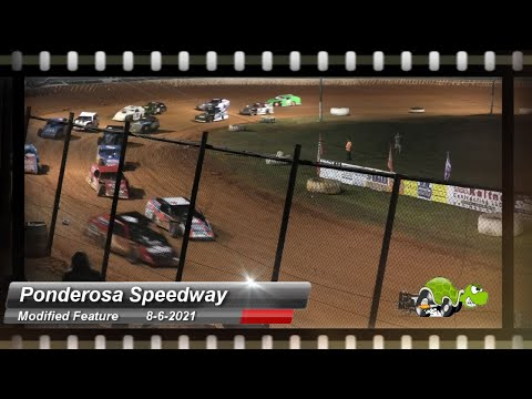 Ponderosa Speedway - Modified Feature - 8/6/2021 - dirt track racing video image