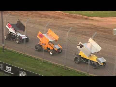 Inaugural Lucas Oil POWRi RaceSaver Super Sprint Independence Nationals - dirt track racing video image