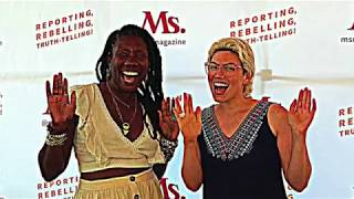 Nicole Dennis-Benn speaking at Ms. Magazine with Carmen Rios
