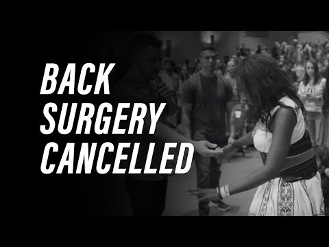 Back Surgery Cancelled!!!
