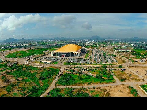 Aerial view of the Lord's garden during today's services