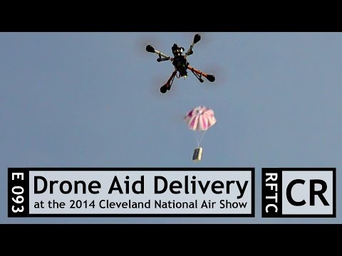 RFTC: FPV Quadcopter Demonstrates Delivery of First Aid Kit at 2014 Cleveland National Air Show - UC7he88s5y9vM3VlRriggs7A