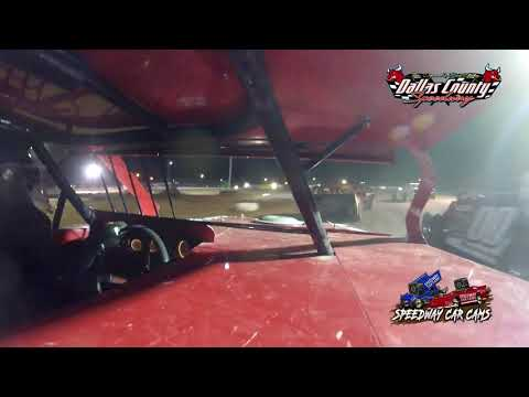 #83 Ben Newell - Midwest Mod - 7-2-2021 Dallas County Speedway - In Car Camera - dirt track racing video image