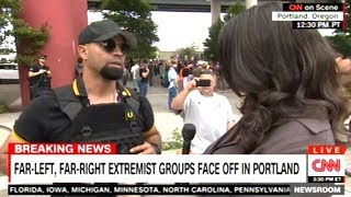 Portland Protester Says Both ANTIFA And White Supremacists SHOULD Be Put On Terrorists Watch List!